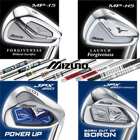 Mizuno MP-15, MP-H5, JPX-850, JPX-850 Forged Custom
