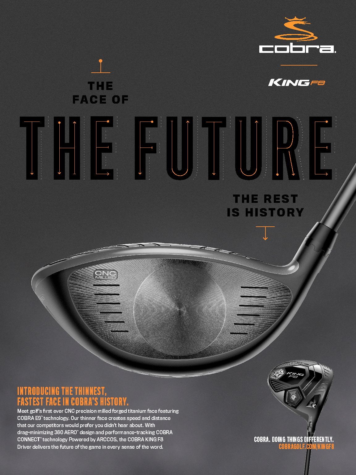 Cobra has announced their KING F8 line! We're talking drivers, fairway woods, hybrids and irons! Yes, there will be a one length option in the irons. But you should really keep a look out for this driver. The F8 and F8+ driver is like no other driver out there. I'm not sure if Cobra plans to make this driver in multiple colors like they have in the past, but that is not what makes this Cobra driver special. What makes this driver special is the face! The face is CNC milled… normally that's for a putter!!! A CNC milled face […]